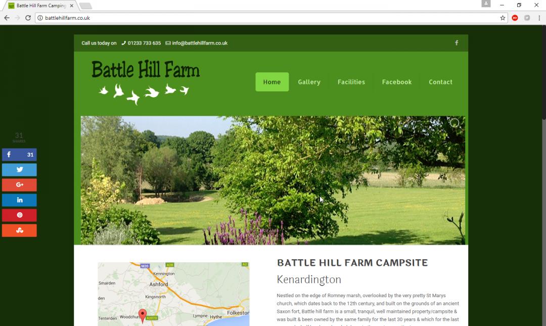 Battle Hill Farm Camping Site