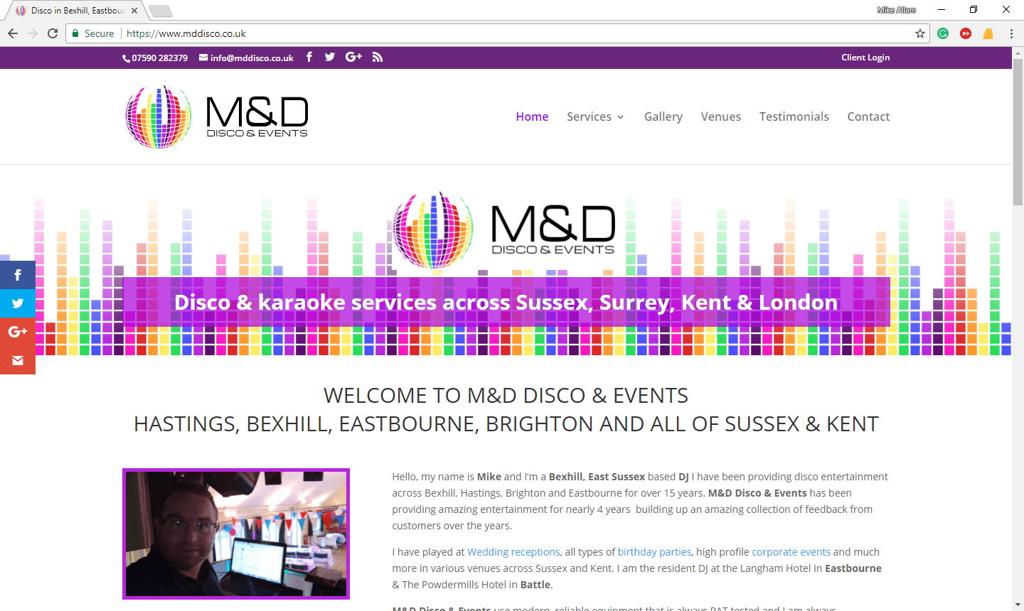 M D Disco & Events Sussex