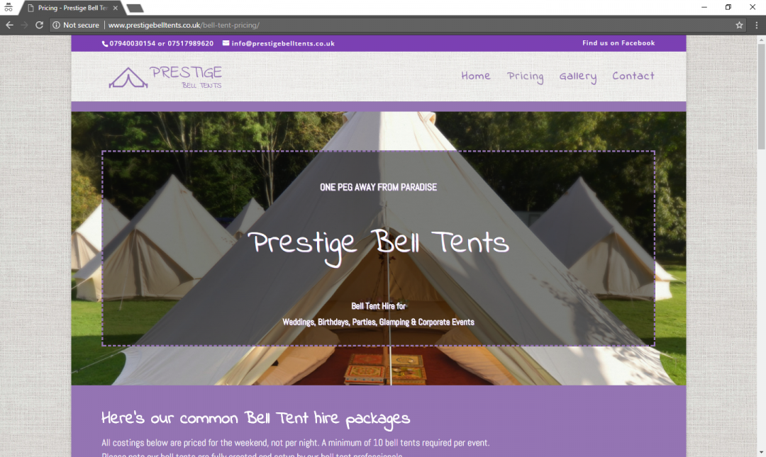 Prestige Bell Tents For Weddings