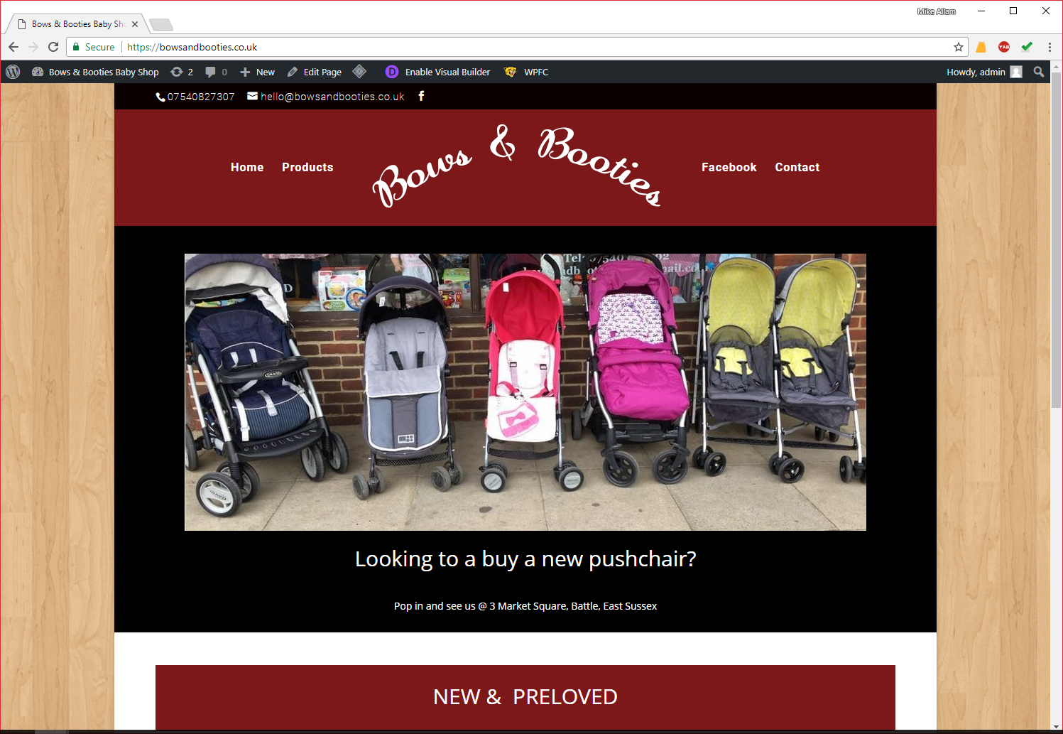 Bows & Booties Web Design